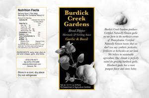 Burdick Creek Gardens Label 3