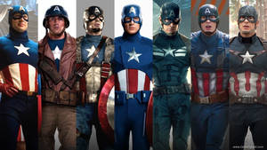 evolution of the form of Captain America