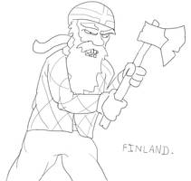 The true personification of Finland. by IrsanDemosa