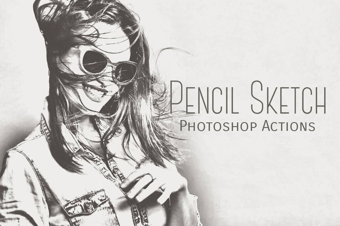 Pencil sketch photoshop actions by inventivefarhan