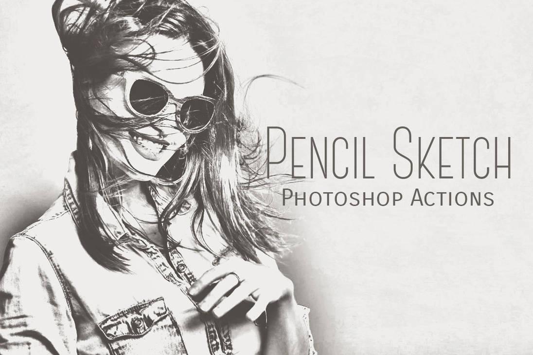 Pencil sketch photoshop actions by inventivefarhan