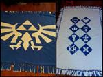 Kingdom Hearts + Legend of Zelda Fleece Blanket