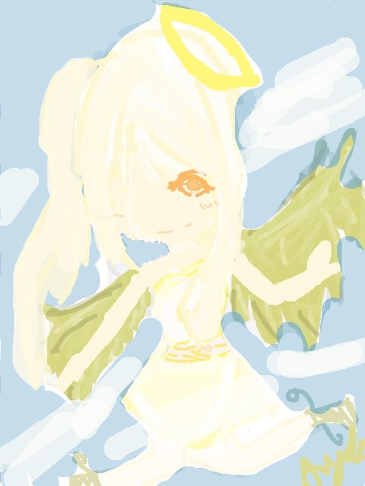 an angel 8D by iiCherribbon