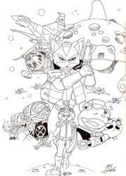 Bucky O'Hare meets Starfox by sonicadventurer
