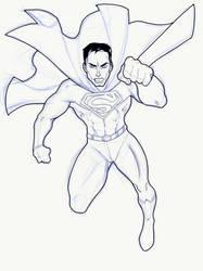 WIP - Super-Man Sketch on iPad Pro by sonicadventurer