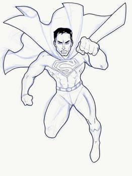 WIP - Super-Man Sketch on iPad Pro