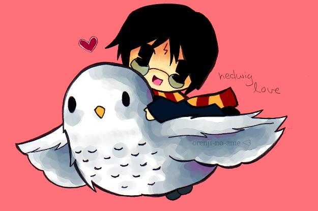 Harry and Hedwig by orenji-no-ame