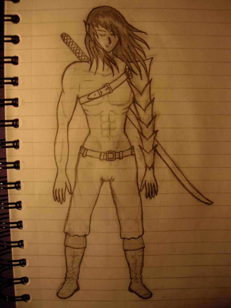 Easy Warrior Drawings Male Elf 4