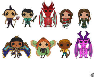 If Dragon Queen had pop vinyls  by Galahound19
