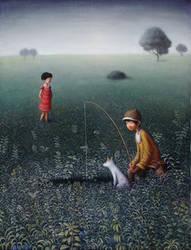 Fishing by perodog