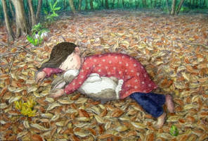 A bed of fallen leaves by perodog