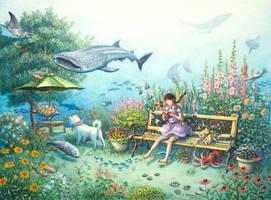 A midsummer garden by perodog