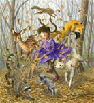 Dance of fallen leaves
