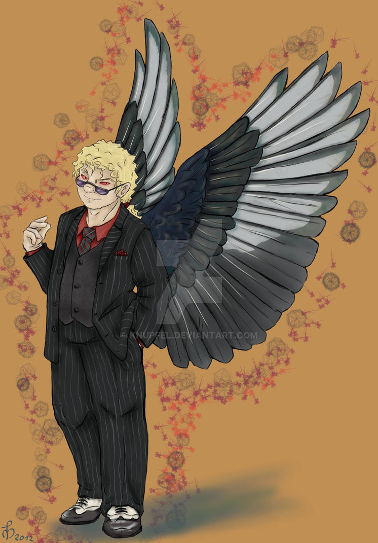 Good Omens Roleswap: Phelan by Knupfel