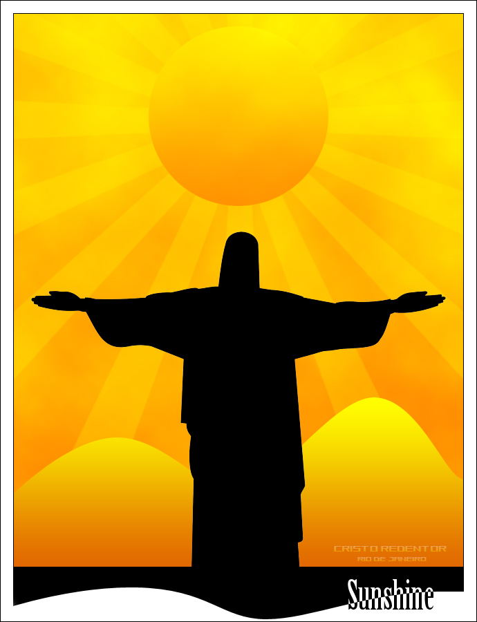 Sunshine Cristo Redentor By Rubensgameloni On Deviantart