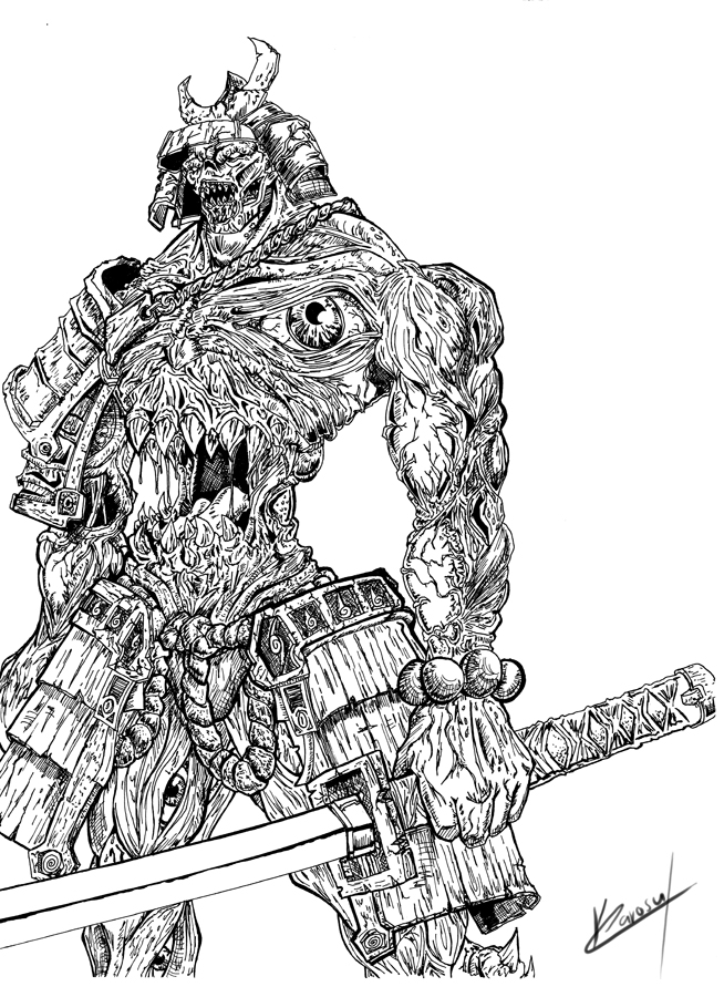 demon samurai by karosumaker on deviantart