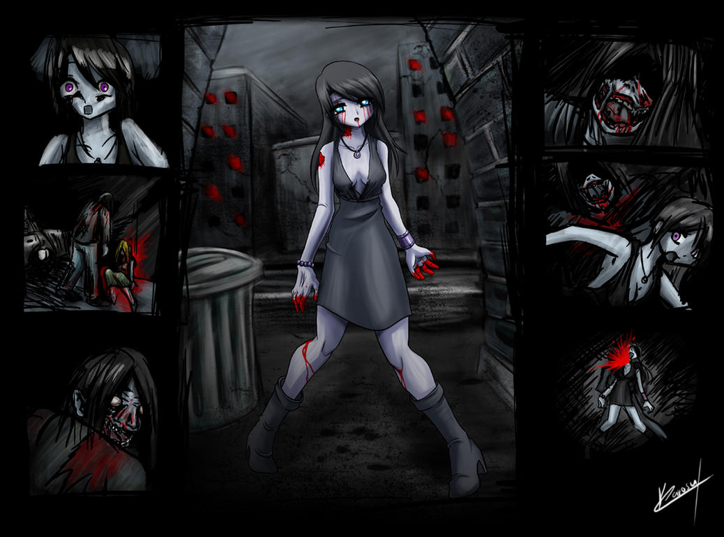 Sad Zombie Girl By Karosumaker