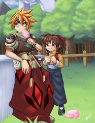 Terranigma: Ark and MeiLin by Karosu-Maker
