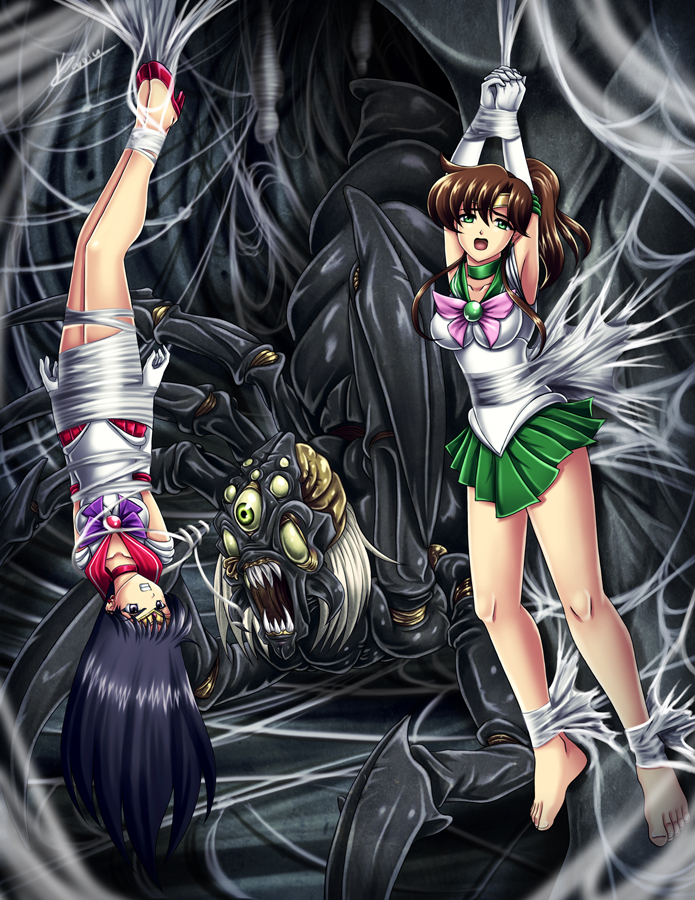 Sailor Mars and Jupiter by Karosu-Maker