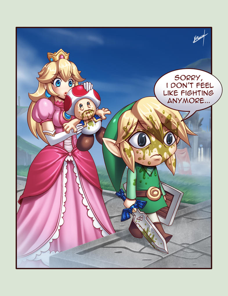 Peach's Toad Move by Karosu-Maker