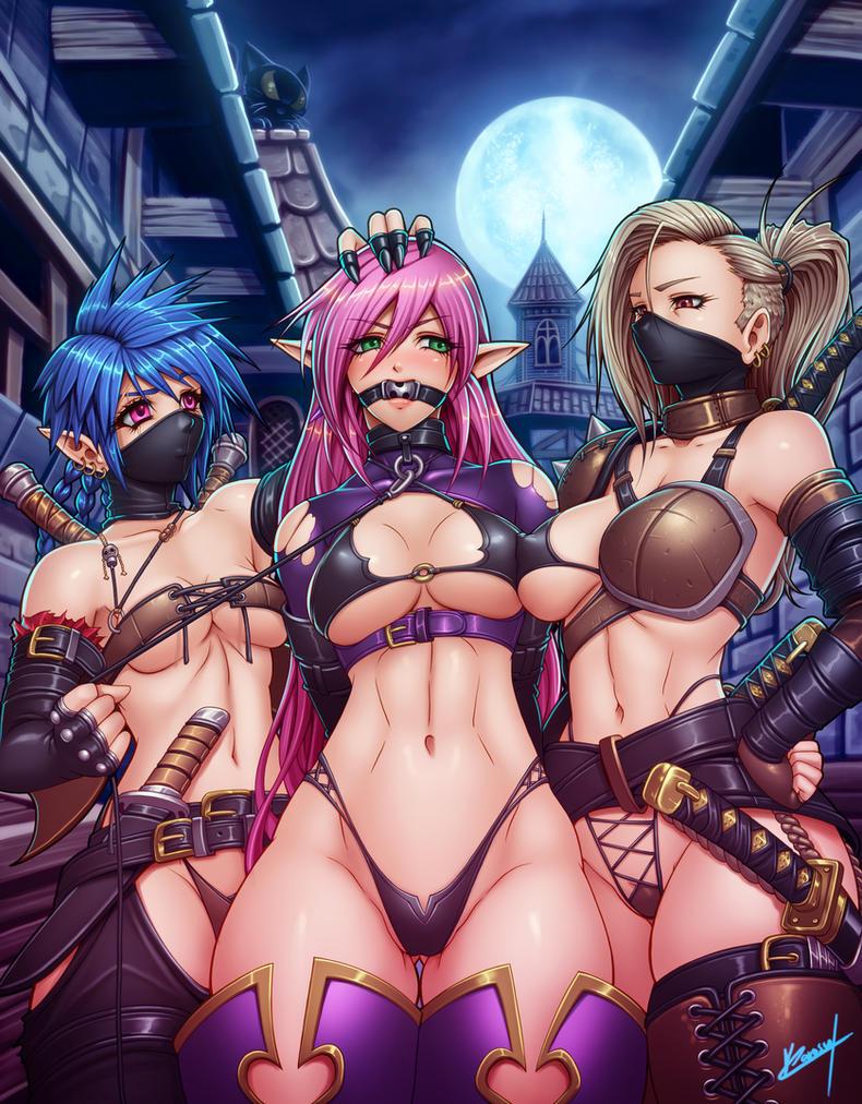 Karen and the bandits by Karosu-Maker