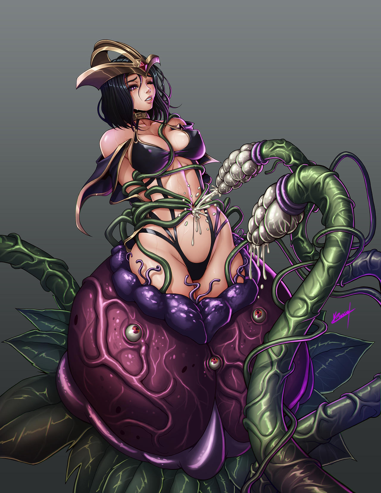 LeBlanc and the monster plant by Karosu-Maker