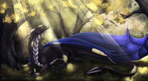 Commission: Tranquil Rays of Light by Kaarhai
