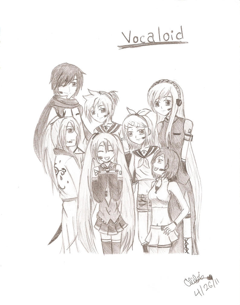 Vocaloid Group Coloring Pages Vocaloid family by cilibi