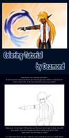 Manga coloring tutorial by Dea