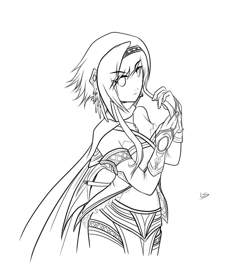 Line Drawing Raven : Raven lineart by dea on deviantart