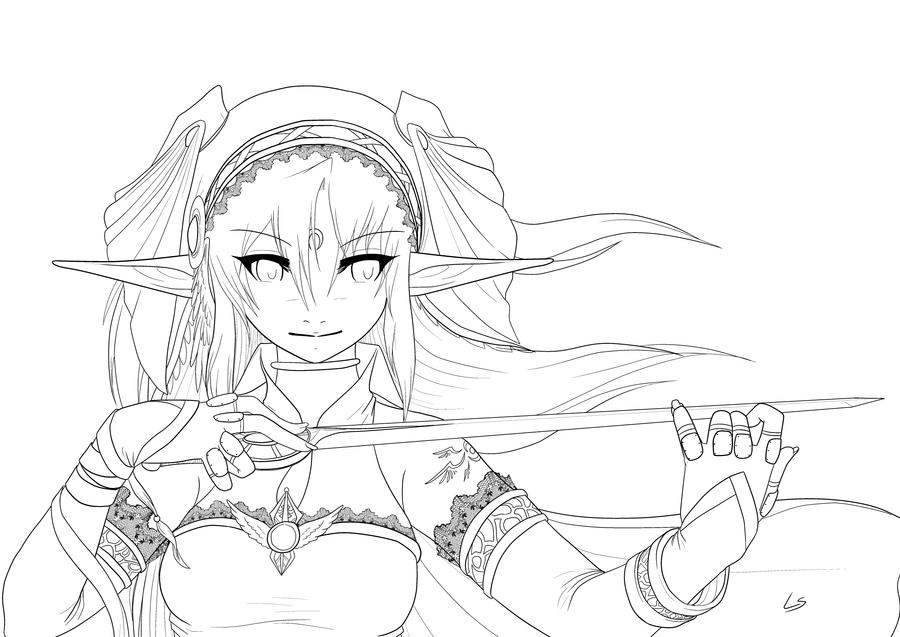 Invisible ViolinLineart by Dea89