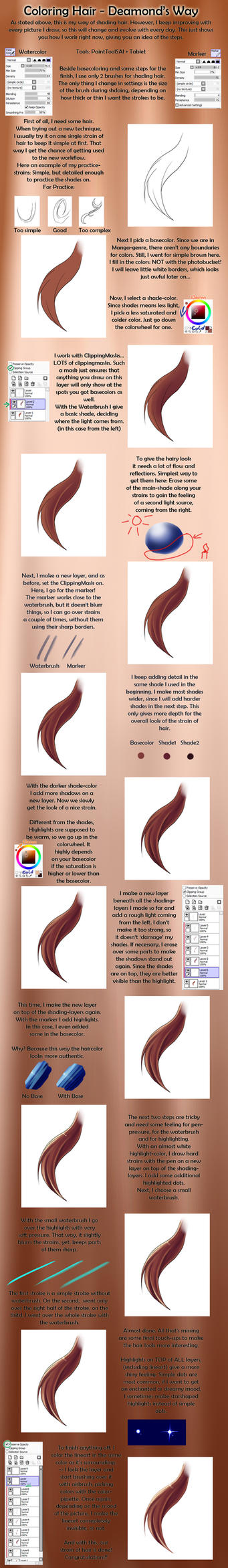 Hair-Color-Tutorial for SAI by Dea-89