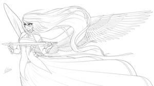 Goddess - Lineart