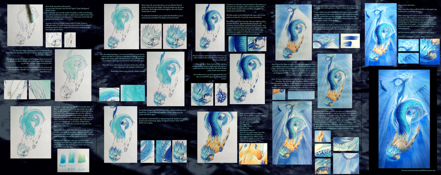Copic Tutorial: Making of Sea Serpent by Dea-89