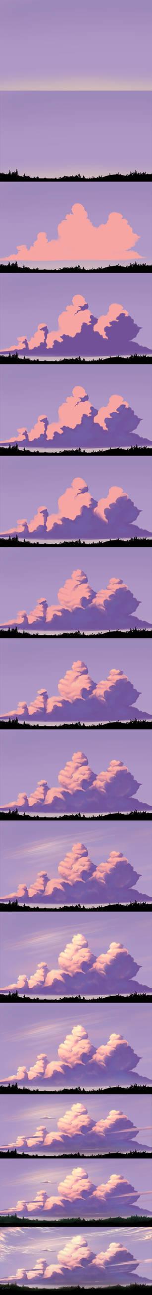 Evening Sky - Step by Step