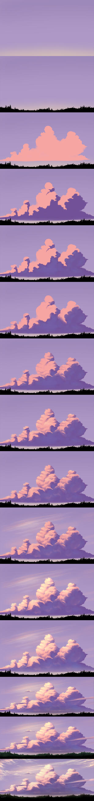 Evening Sky - Step by Step by Dea-89