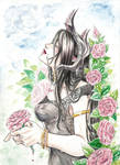 Watercolor - The Black Lady