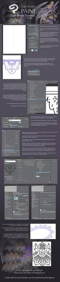 Clip Studio: Lace Brush Tutorial