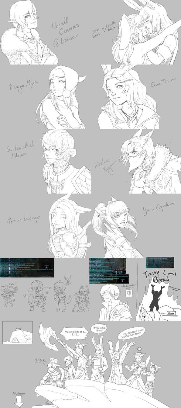 FFXIV doodles
