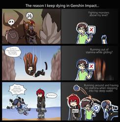 Genshin Impact .:. My stupid way to die