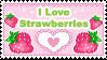 I Love Strawberries Stamp by Annortha