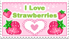 I Love Strawberries Stamp by Annortha