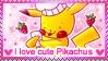 I love Cute Pikachus stamp