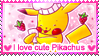 I love Cute Pikachus stamp by Annortha