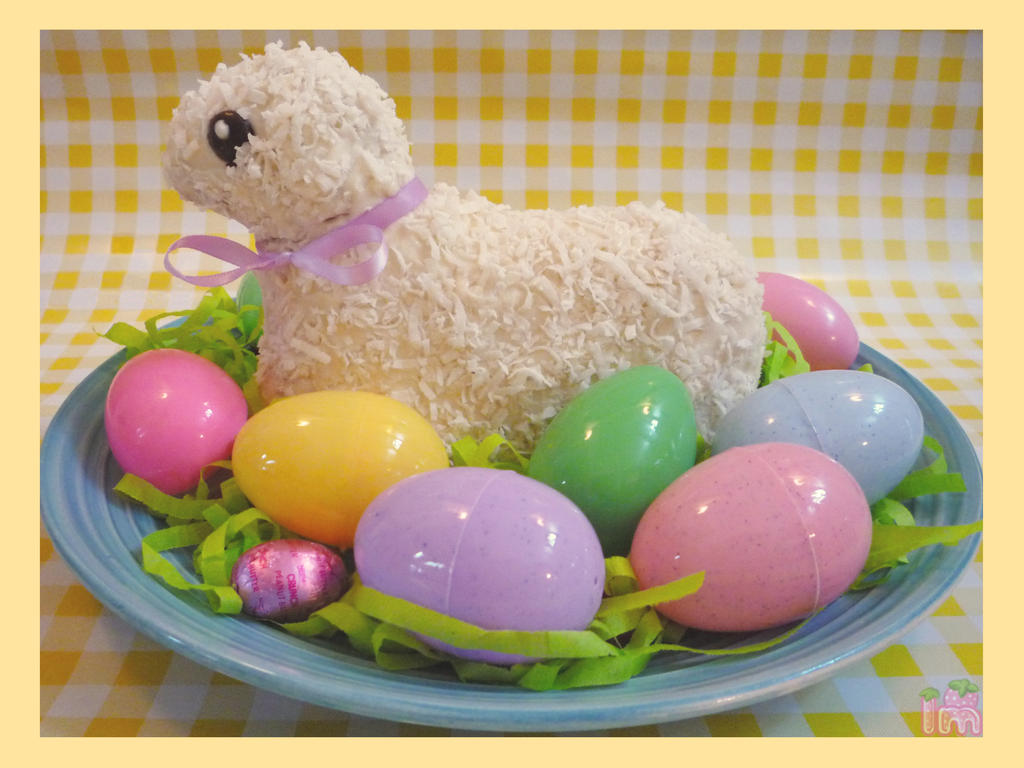 Easter Lamb Cake by Annortha on DeviantArt