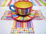 Crazy Colors Cup Saucer Set