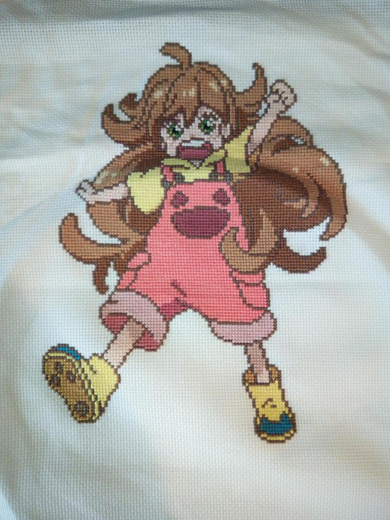 Tsumugi Inuzuka Cross stitch by Pemachi