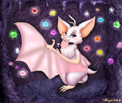 ::Batfem in her glowgem cave:: by norngirl