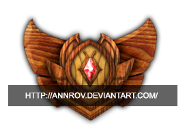 Division V Wood League of Legends Emblem by Annrov