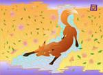 Oriental Fox Illustration GOLD PRINT